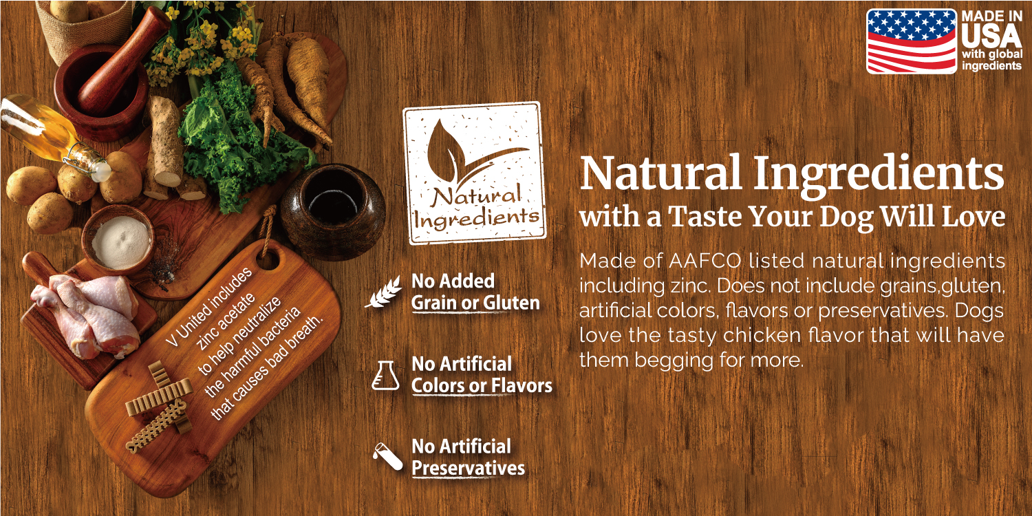 Natural Ingredients with a Taste Your Dog Will Love